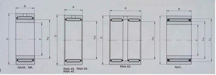 чертеж игольчатого подшипника